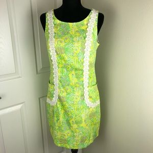 Lilly Pulitzer Liz shift dress in Crazy Cat House